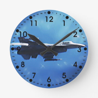 F16 Fighting Falcon Fighter Jet In Flight Clock