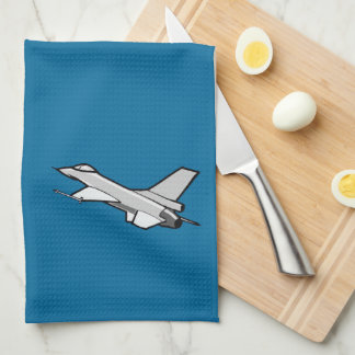 F16 Fighting Falcon Fighter Jet In Flight Tea Towel