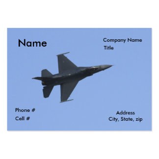 F16 side view business cards