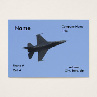F16 side view business card