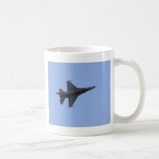F16 side view basic white mug