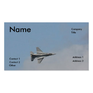 F16 water vapor business cards