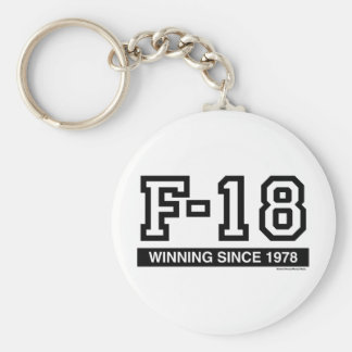 F18 BASIC ROUND BUTTON KEY RING