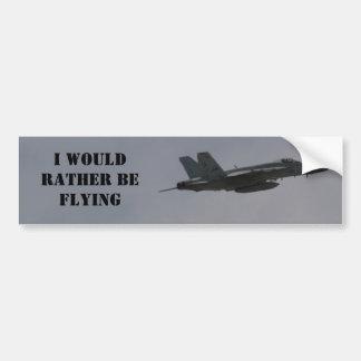 F18 Hornet Fighter Jet In Flight Bumper Sticker