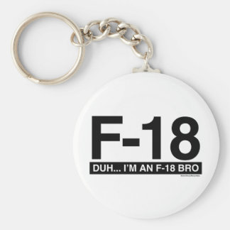 F18 BASIC ROUND BUTTON KEY RING