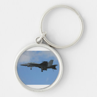 F18 landing mode Silver-Colored round key ring