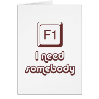F1 - Help i need somebody Greeting Card