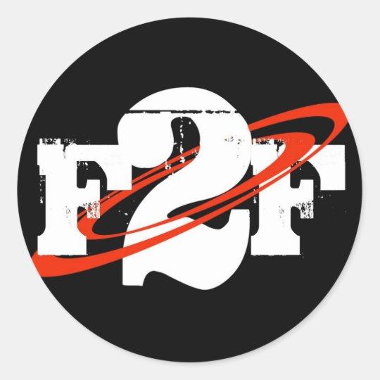 F2F Round Sticker