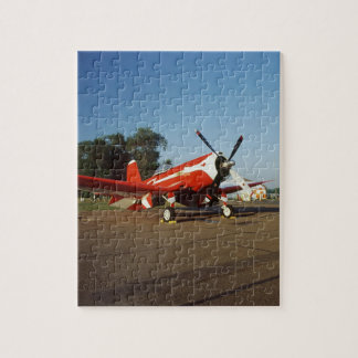 F2G-1D Super Corsair airplane at an air show in Jigsaw Puzzle