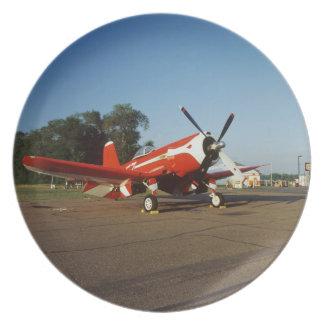 F2G-1D Super Corsair airplane at an air show in Plate
