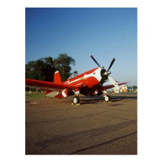 F2G-1D Super Corsair airplane at an air show in Postcard