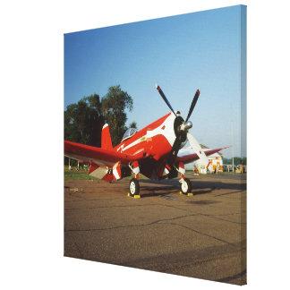 F2G-1D Super Corsair airplane at an air show in Stretched Canvas Prints