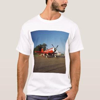 F2G-1D Super Corsair airplane at an air show in T-Shirt