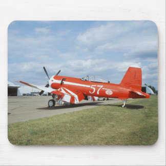 F2G-1D Super Corsair airplane at the air show in Mouse Pad