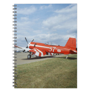 F2G-1D Super Corsair airplane at the air show in Spiral Notebook