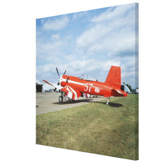 F2G-1D Super Corsair airplane at the air show in Stretched Canvas Print