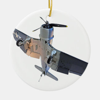 F4 Corsair Fighter Christmas Ornament