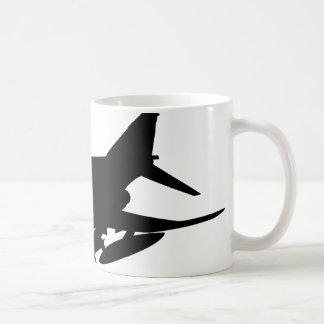 F4 Phantom Silhouette Basic White Mug