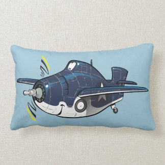 F4f cartoon wildcat plane lumbar cushion