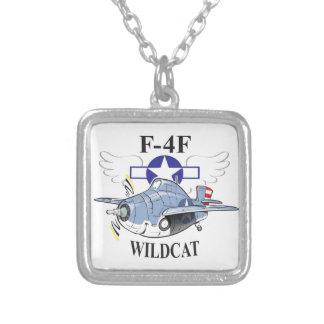 f4f wildcat square pendant necklace