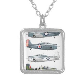 f4f wildcats silver plated necklace