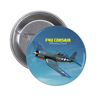 F4U Corsair 6 Cm Round Badge