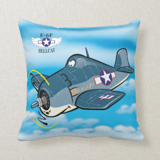 f6f hellcat cartoon plane cushion