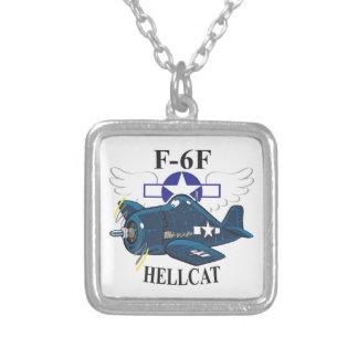 f6f hellcat square pendant necklace