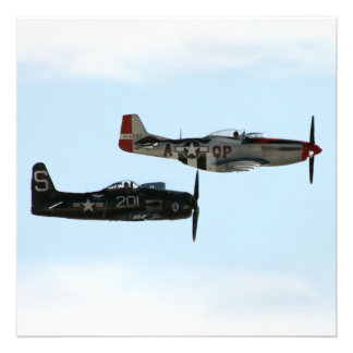 F8F Bearcat P-51D Mustang Personalized Invitations