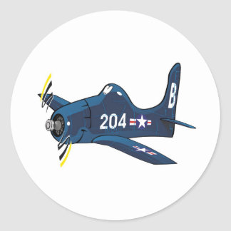 f8f bearcat round sticker