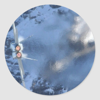 F-14 Afterburner Break on the Boat Round Sticker