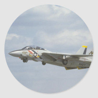 F-14 Flying Round Stickers