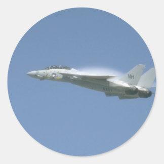F-14 In Flight Round Sticker