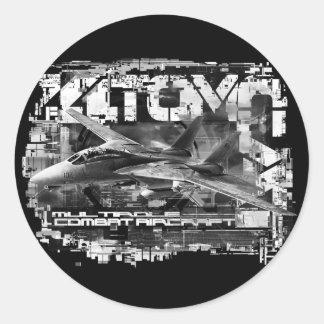 F-14 Tomcat Classic Round Sticker Sticker