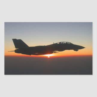 F 14 Tomcat Fighter Jet Rectangular Sticker