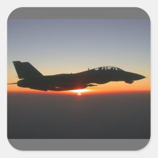 F 14 Tomcat Fighter Jet Square Sticker