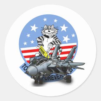 F-14 TOMCAT Forever Round Sticker