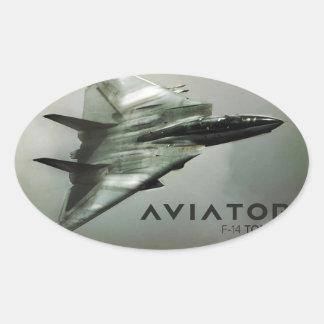 F-14 Tomcat Jet Fighter Oval Sticker