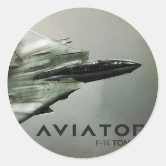 F-14 Tomcat Jet Fighter Round Sticker