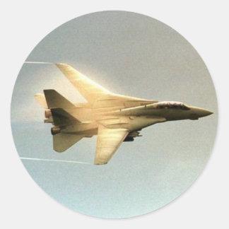 F-14 TOMCAT ROUND STICKER