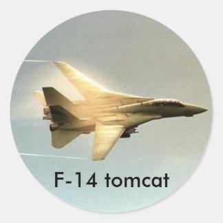 F-14 Tomcat Round Stickers