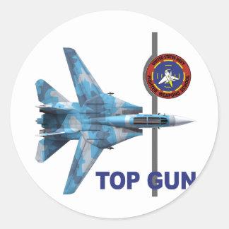 F-14 Tomcat Top Gun Round Sticker