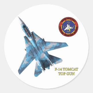 F-14 Tomcat Top Gun Round Stickers