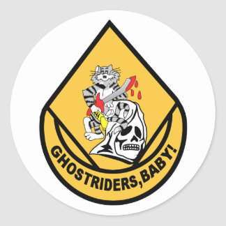 F-14 TOMCAT VF-142 Ghostriders Round Sticker