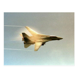 F-14 TOMCAT WITH VAPOR POSTCARD