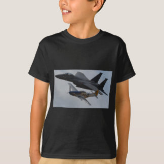 F-15 EAGLE + P-51 MUSTANG FORMATION T-Shirt
