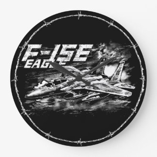 F-15 Eagle Round (Large) Wall Clock