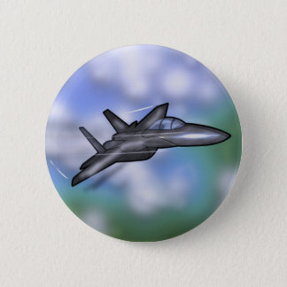 F-15 Fighter 6 Cm Round Badge
