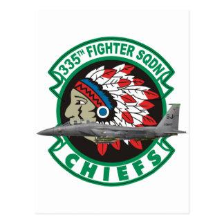 F-15 Strike Eagles 335th Fighter Squadron Post Card
