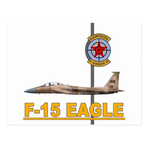 F-15 Strike Eagles 65th Aggressors Squadron Postcards